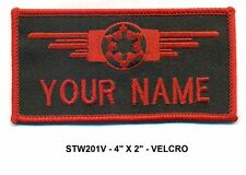 STAR WARS RED IMPERIAL CREW NAME VEL-KRO PATCH - STW201V