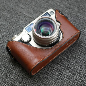 Handmade Leather Half Case For Contax G2 Camera Retro Style Protective Cover New