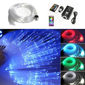 12V RGB LED Car Star Headliner Ceiling Light Kit 300Pcs Fiber Optic Phone APP BT