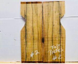 """Ébène Guitare Électrique Haut -5/8 """" Ou 16MM Luthier Plaques Sculpté #02"""