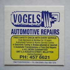 VOGELS AUTOMOTIVE REPAIRS UNIT 3 5 AUGUSTA ST WILLETTON 4576621 COASTER