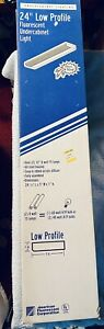 """2 NEW American Fluorescent 24"""" Low Profile Undercabinet Lights Direct Wire USA"""