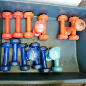 Anti-Slip Dumbbells Weight Lifting Muscle Cast Iron Core. Sold as one lot