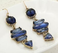 Drop Dangle Stud Clip Earrings 838 Woman Fashion Jewelry Crystal Rhinestone Ear