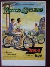 POSTCARD B.S.A MOTOR CYCLES