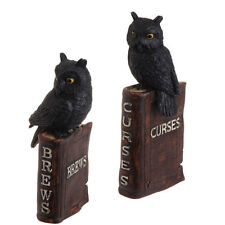 Resin Spell Book with Owls set of 2 Halloween Decorations h3311130 NEW RAZ