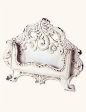 French Country Antique White Business Card Holder Shabby Chic Desk Display
