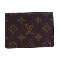 Auth Louis Vuitton Vertical Bifold Pass Card Case Monogram Brown M60533 06Z413