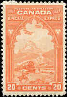 Mint Canada 20c 1927 Scott #E3 Special Delivery Stamp (F-VF) Hinged