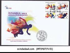 TURKEY - 2012 EUROPEAN CAPITAL OF SPORTS - 4V - FDC