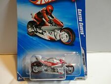 2010 Hot Wheels #155 White Canyon Carver Motorcycle