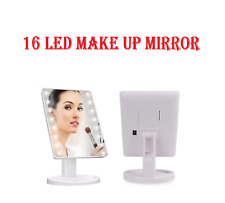 16 LED Illuminated Screen Make-Up Cosmetic Tabletop Vanity Stand Mirror New