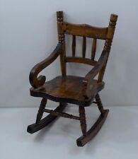 Vintage Folk Art Miniature Wooden Rocking Chair