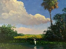 Florida Knife Oil Painting - The Wading Pool Highwaymen Like- Lost Years Art 2.1