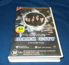 DARK CITY VHS PAL ROADSHOW KIEFER SUTHERLAND WILLIAM HURT ALEX PROYAS