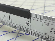 "1/16 Edge Trim 1/16 X 1/4"" 69G Sold By the Foot U Channel Black Rubber Edging"