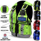 Hi Viz Tactical Vest Security Enforcement CCTV Dog Handler Tac Quality Vest NEW