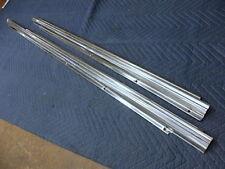 MERCEDES 450SL & SLC  107  Genuine Door Threshold Moldings Stainless Steel  L&R