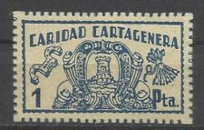 7499-SELLO LOCAL GUERRA CIVIL FALANGE ESPAÑOLA CARTAGENA CARIDAD CARTAGENARA.1 P