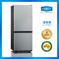new frost 368l stainless bottom mount fridge dual cooling 2yrs warranty