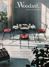 Woodard Wrought Iron Furniture ORLEANS GROUP New Orleans Grillwork 1952 Print Ad