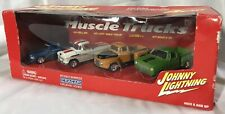 Johnny Lightning Muscle Trucks 4 Truck Box Set (Cragar) 1:64 Die Cast NIB 2002