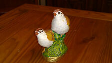 Hand Painted Ceramic Birds 7 inches tall