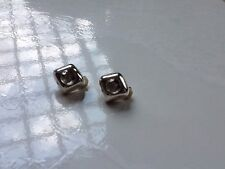 Bright Silver Clip On Earring Clear Crystal Glass Light