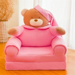 Baby Kids Cartoon Crown Seat Only Neat Puff Skin Toddler Children Cover for Sofa