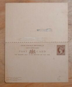 MayfairStamps Seychelles Universal Postal Union 8 Cents Unused Stationery Reply