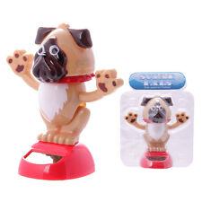 Fun Dog sventolando Dancing design cane carlino o Bulldog Cucciolo tipo regalo ad energia solare