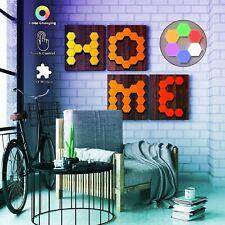 Hexagon Lights RGB Colors Honeycomb Touch Led Wall Lights DIY Modular + Remote