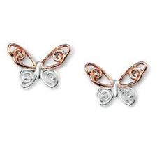 Pendientes de joyería con gemas mariposa de plata de ley