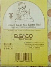Nib 1999 Precious Moments Figurine # 456314~Heaven Bless You Easter Seal