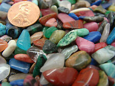 Size #2 - Extra Small Tumbled Polished Gemstone Mix - 2000 Carats Lots  COLORFUL