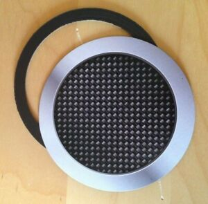 magnetic tax disc parking permit holder carbon fibre effect fits any car