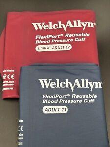 Welch Allyn FlexiPort Adult Blood Pressure Cuff REUSE-11 & REUSE 12 - NEW - OPEN