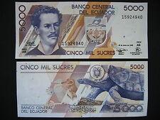 Ecuador 5000 sucre 26.3.1999 serie añ (p128c) UNC