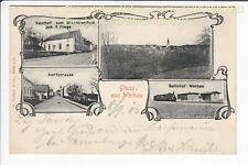 BURGENLANDKREIS , GRUSS AUS WETHAU , BAHNHOF , 1903