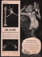 1949 LIFE FORMFIT BRA & Girdle Pinup AD Ladies Lingerie Vintage Underwear