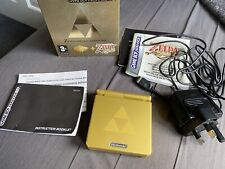 GameBoy Advance SP Limited Edition Zelda Console Boxed Incomplete