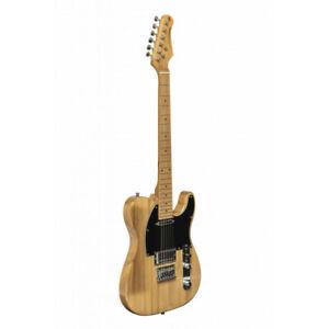 Stagg SET-PLUS NAT - Guitare électrique Vintage série ''T''- plus - Naturelle
