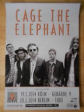 CAGE THE ELEPHANT 2014 TOUR   orig.Concert-Konzert-Tour-Poster-Plakat DIN A1 NEU