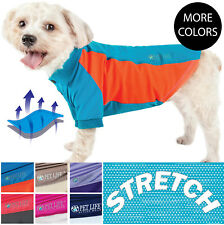 Pet Life 'Barko-Pawlo' Quick-Dry and 4-Way Relaxed Stretch Dog Polo T-Shirt