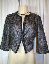 Fashion Star TV Show Luciana Multicolor Cropped Metallic Jacket Macys Sz Small