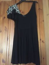 (George) Black Embroidered Tunic Size 14