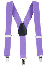 "New 1"" Lavender Suspender Baby Toddlers Kids Boys Elastic Adjustable - Made USA"