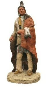 Daniel  Monfort Native American Peace Pipe Statue approx size 14 inches high