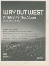 "(SFBK79) ADVERT 7X5"" WAY OUT WEST : INTENSIFY ALBUM"