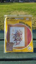 VTG Paragon Pansy Delight Embroidery 0842 Needlecraft Needlepoint Adele Veres
